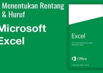 cara menentukan nilai huruf di Excel