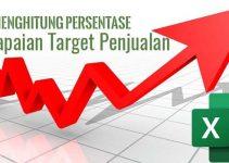 Cara menghitung persentase pencapaian target