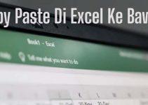 Cara Copy Paste Excel ke Bawah