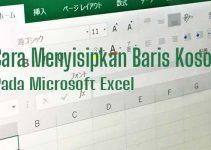 Cara menyisipkan baris kosong pada Excel