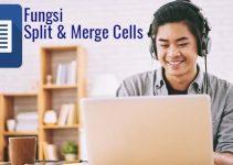 Fungsi Merge Cells dan split cells
